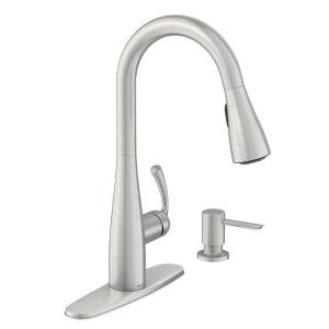 Essie Single-Handle Pull-Down Sprayer Kitchen Faucet with Reflex and Power Clean in Spot Resist Stainless