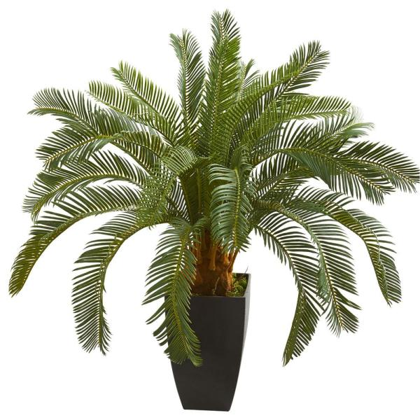 Nearly Natural Indoor 30 in. Cycas Artificial Plant 8314