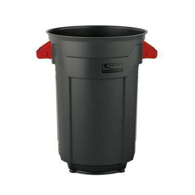 32 Gal. Gray Commercial Trash Can
