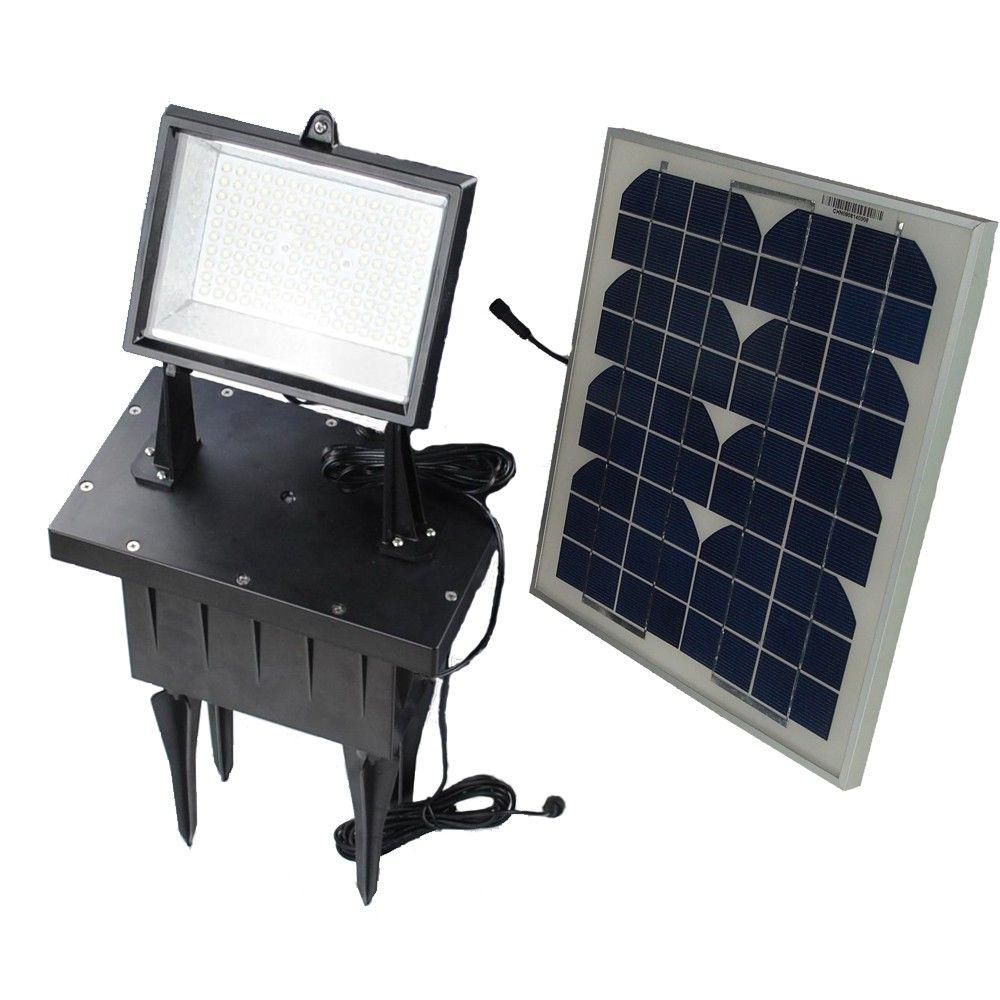 Solar Goes Green Solar Super Bright Black Outdoor 108-LED Flood Light