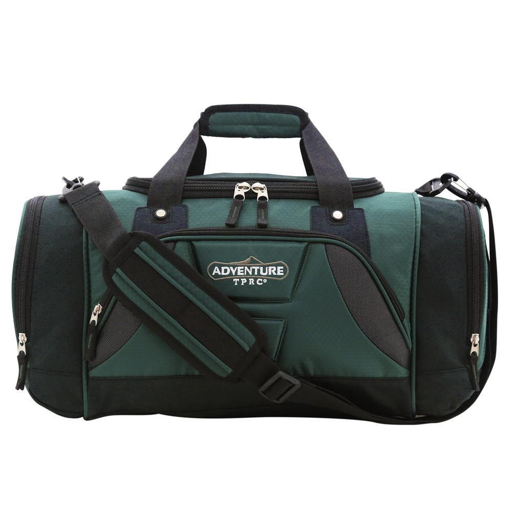 28 in. Green Multi-Pocket Sport Duffel