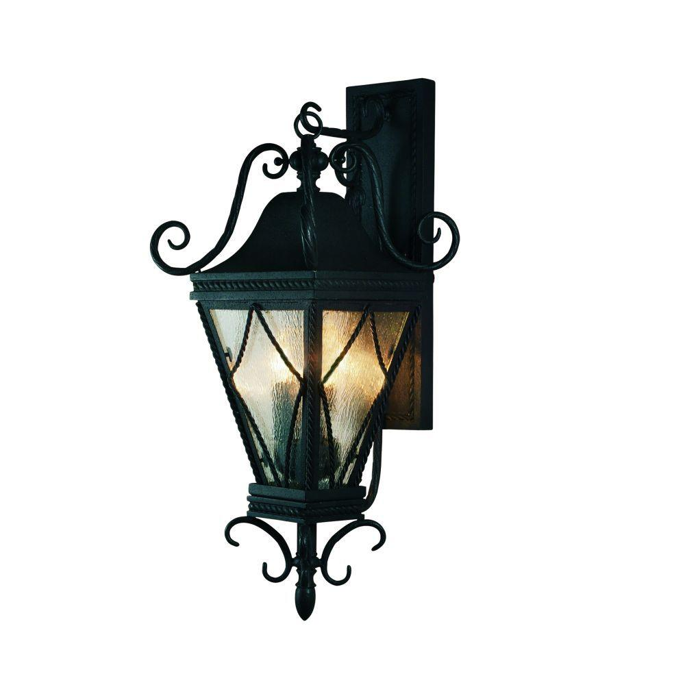 Eurofase Mavis Collection Wall-Mount 3-Light Outdoor Charcoal Sconce-DISCONTINUED