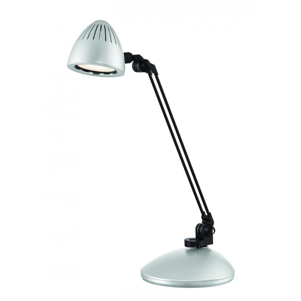 22 in. Silver Desk Lamp
