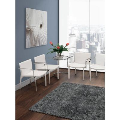 Gekko White Leatherette Conference Office Chair (Set of 2)