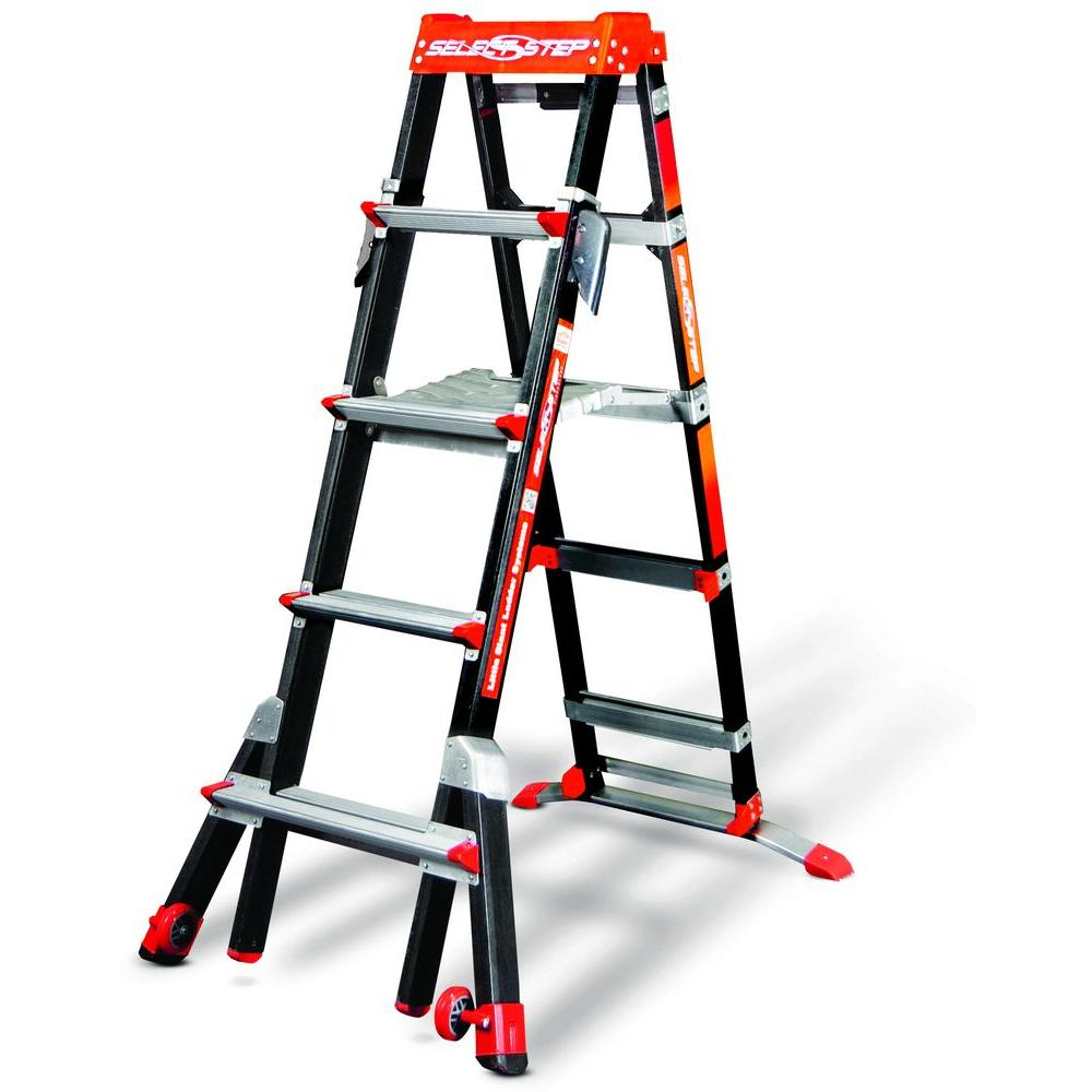 Little Giant Ladder Systems Select Step 5-8 ft. Fiberglass Type IAA 375 lb Rated Ladder