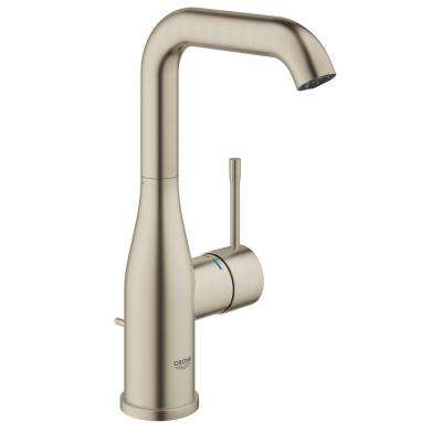 Essence New Single Hole Single Handle 1.2 GPM High Arc Bathroom Faucet In  Brushed