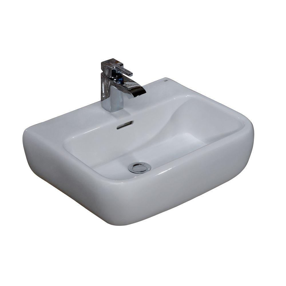 Metropolitan 420 Wall-Hung Bathroom Sink in White