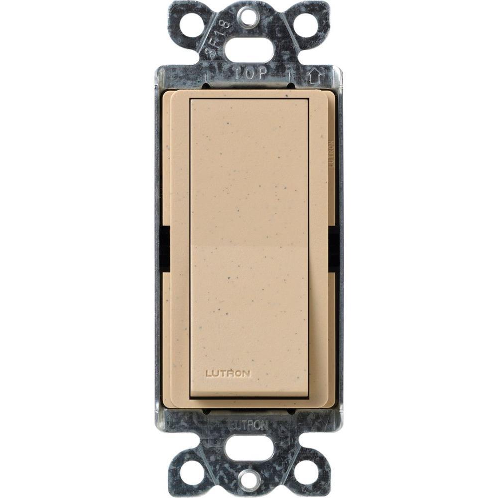Claro On/Off Switch, 15-Amp, Single-Pole, Desert Stone