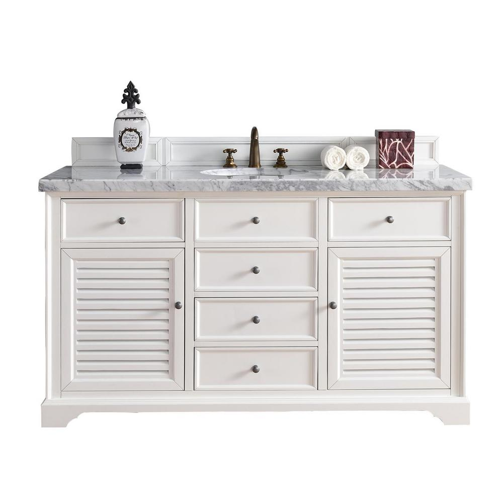 w carrara cottage tops white with providence vanities vanity in p james single signature marble basin martin top