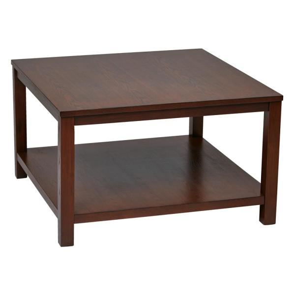 30 X 30 Square Coffee Table.Merge 30 In Mahogany Square Coffee Table