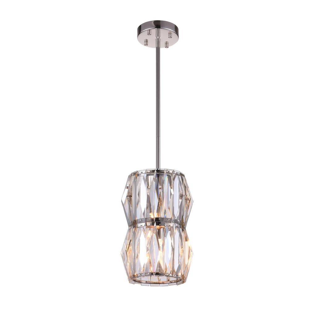 Crystal World Squill 2 Light Bright Nickel Chandelier