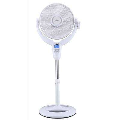 14 in. AirFlo 360 with LCD Display and Thermostat in White