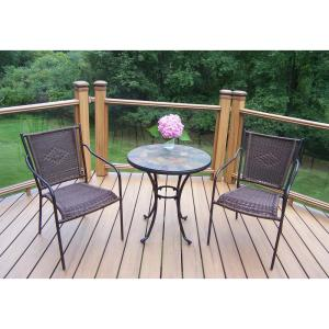 Elite Wicker 3-Piece Outdoor Bistro Set by
