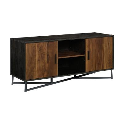 Canton Lane Brew Oak with Grand Walnut Accents Entertainment Credenza