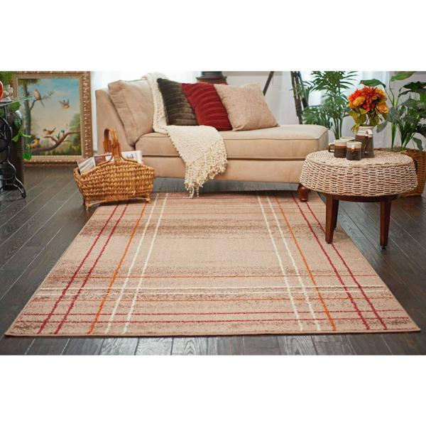 Unique Loom Autumn Heritage Light Brown 9 0 X 12 0 Area Rug 3138277 The Home Depot