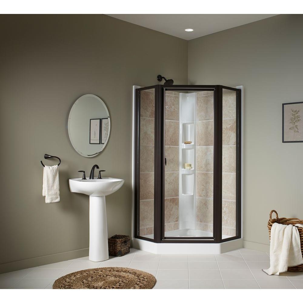 STERLING Intrigue 27-9/16 in. x 72 in. Neo-Angle Shower Door in Deep Bronze with Handle-SP2275A-38DR-G05 - The Home Depot & STERLING Intrigue 27-9/16 in. x 72 in. Neo-Angle Shower Door in ... pezcame.com