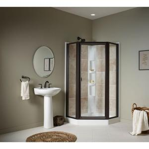 Sterling Intrigue 27-9/16 inch x 72 inch Neo-Angle Shower Door in Deep Bronze with Handle by STERLING