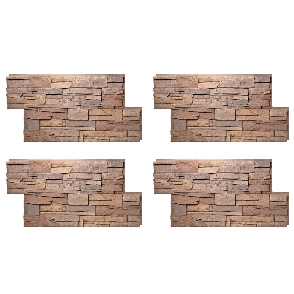 Stacked Stone 24 in. x 42 in. Desert Sunrise Faux Stone