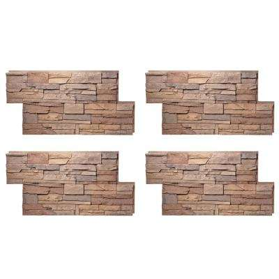 Stacked Stone 24 in. x 42 in. Desert Sunrise Faux Stone Siding Panel (4-Pack)
