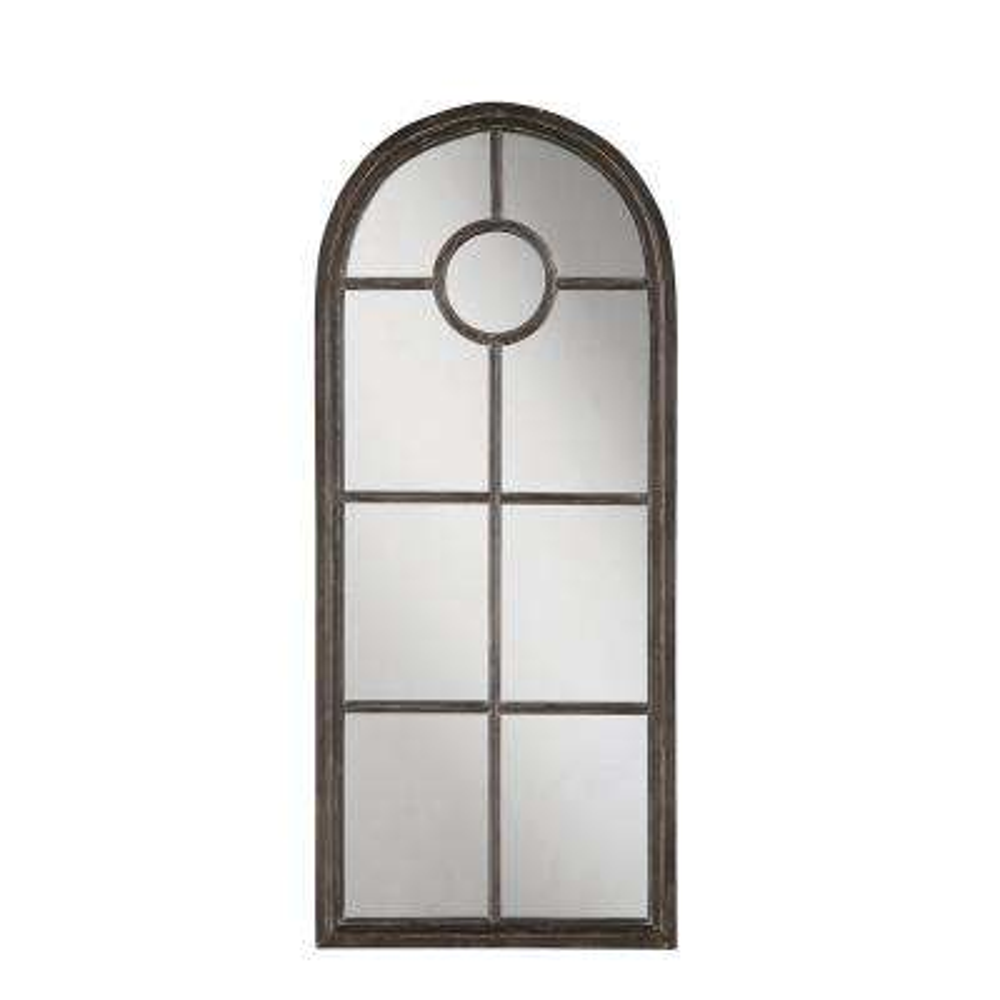 Larkin Distressed Black Framed Mirror