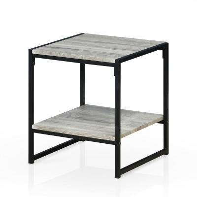 Modern Dark Oak 2-Tier End Table