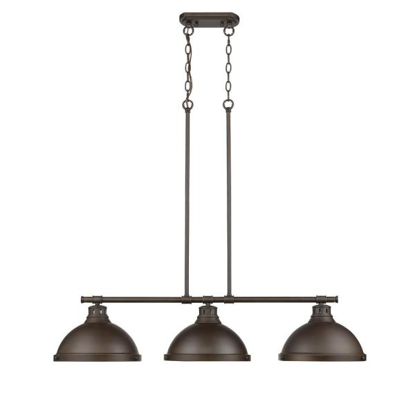Duncan 3-Light Rubbed Bronze Pendant