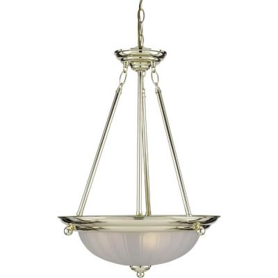 3-Light Polished Brass Interior Pendant