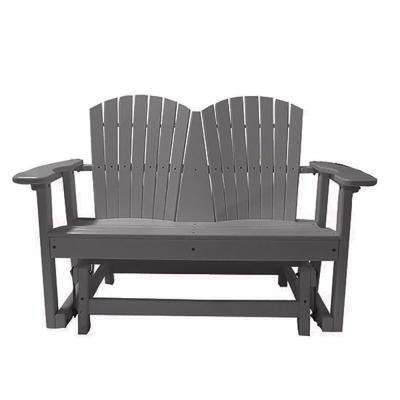 52 in. 2-Person Gray Recycled Poly-Lumber Outdoor Glider