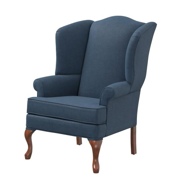 Crawford Sky Wing Back Chair