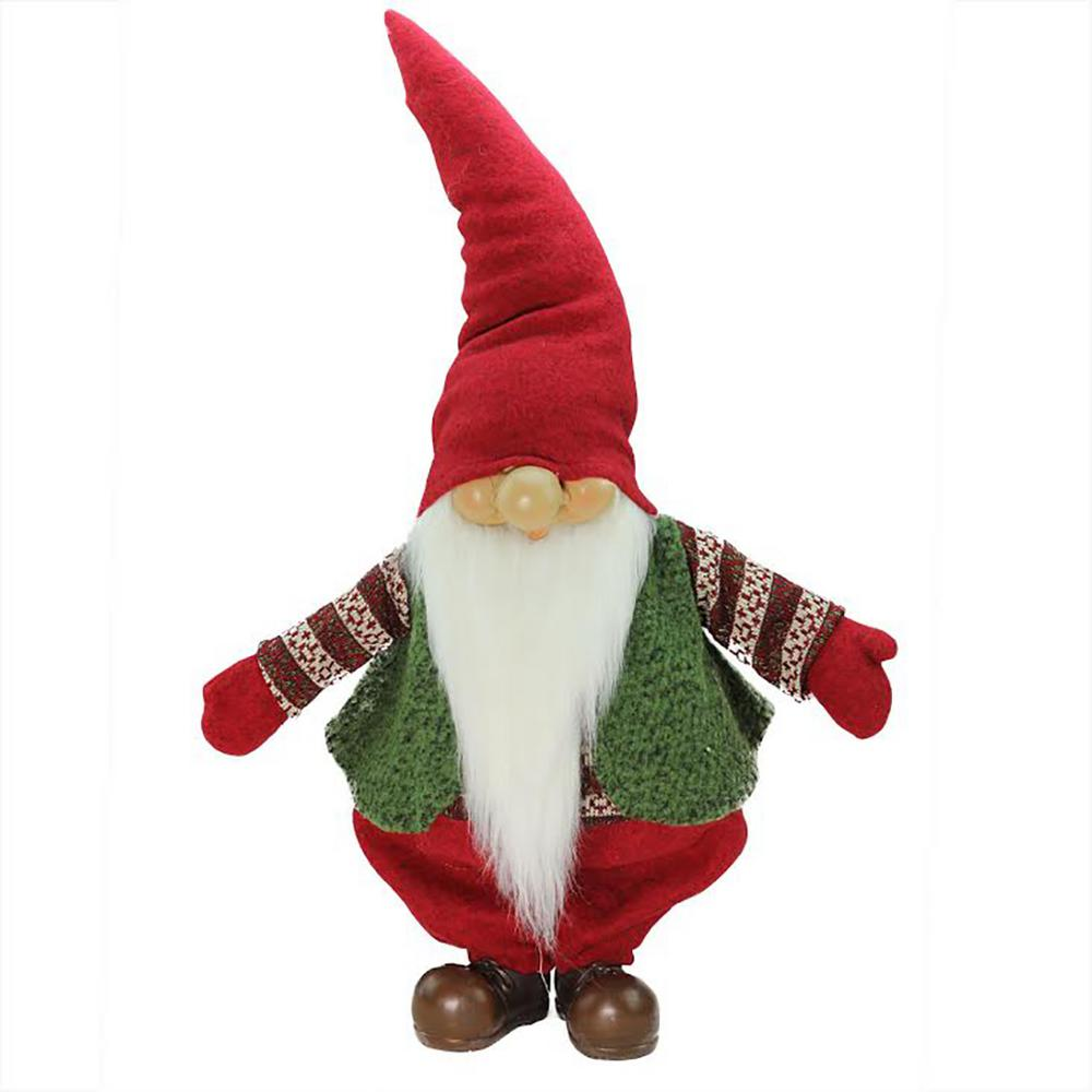 Christmas Gnome.22 In Red Green And White Gnome Christmas Tabletop Decoration