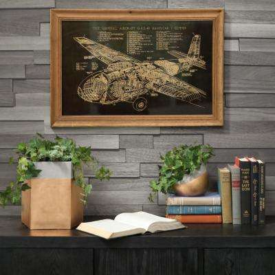 "15.75 in. x 24.75 in. ""1943 General Aircraft Limited Gal. 49 Hamilcar Blueprint"" Printed Wall Art"
