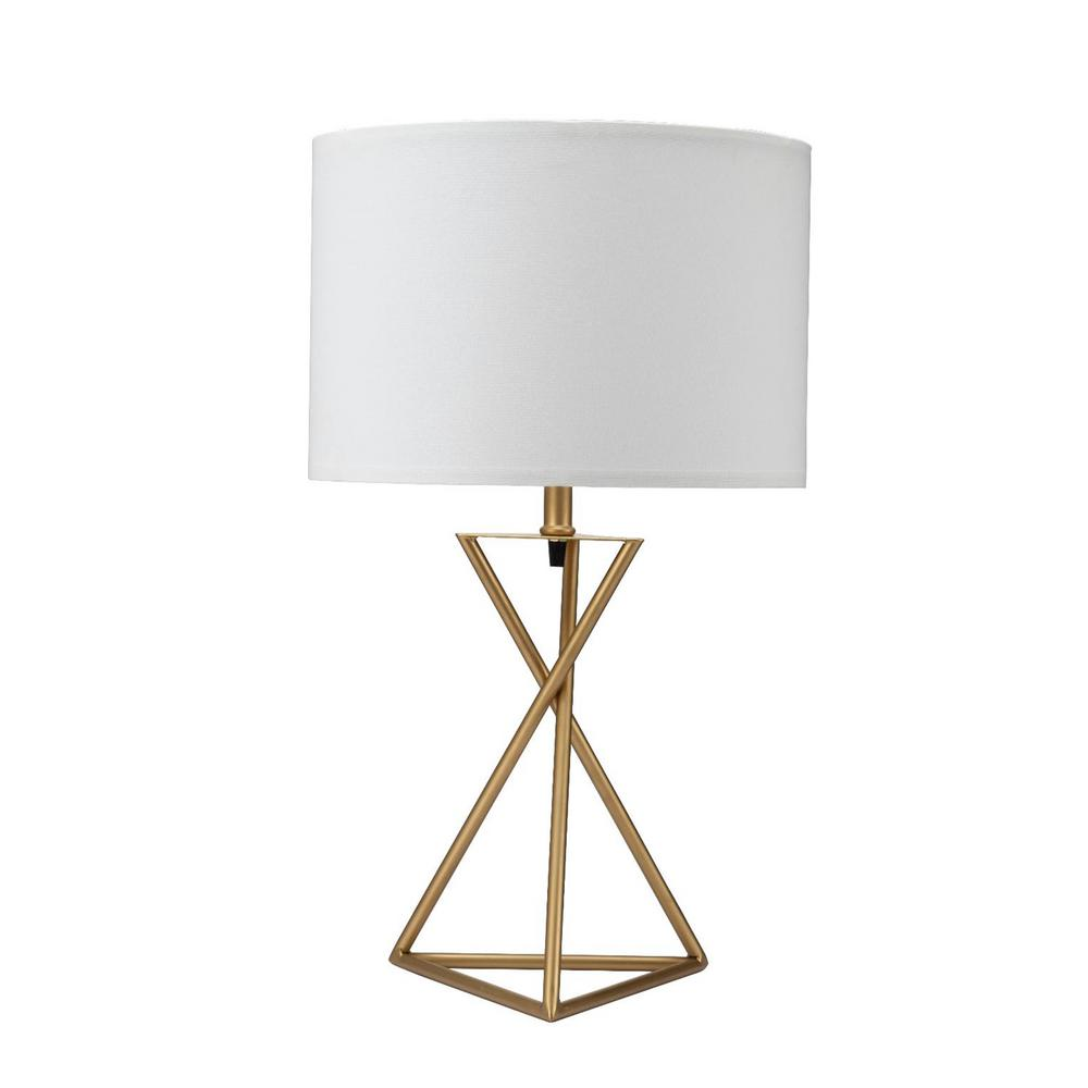 Ore International Ester 26 25 In Matte Gold Hourgl Table Lamp