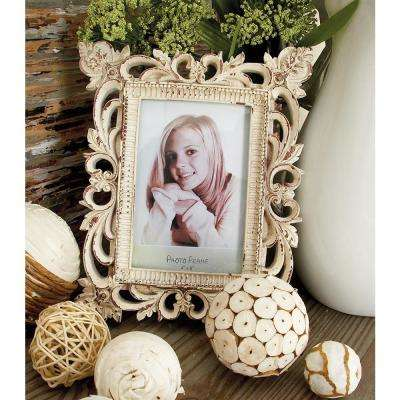 Rustic 1-Opening Polystone Scrollwork Photo Frames (Set of 3)