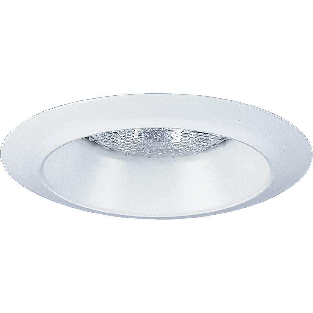 Progress Lighting 4 in. White Recessed Open Trim Open trim for use with Progress 4 in. recessed lighting housings. Wet location listed.
