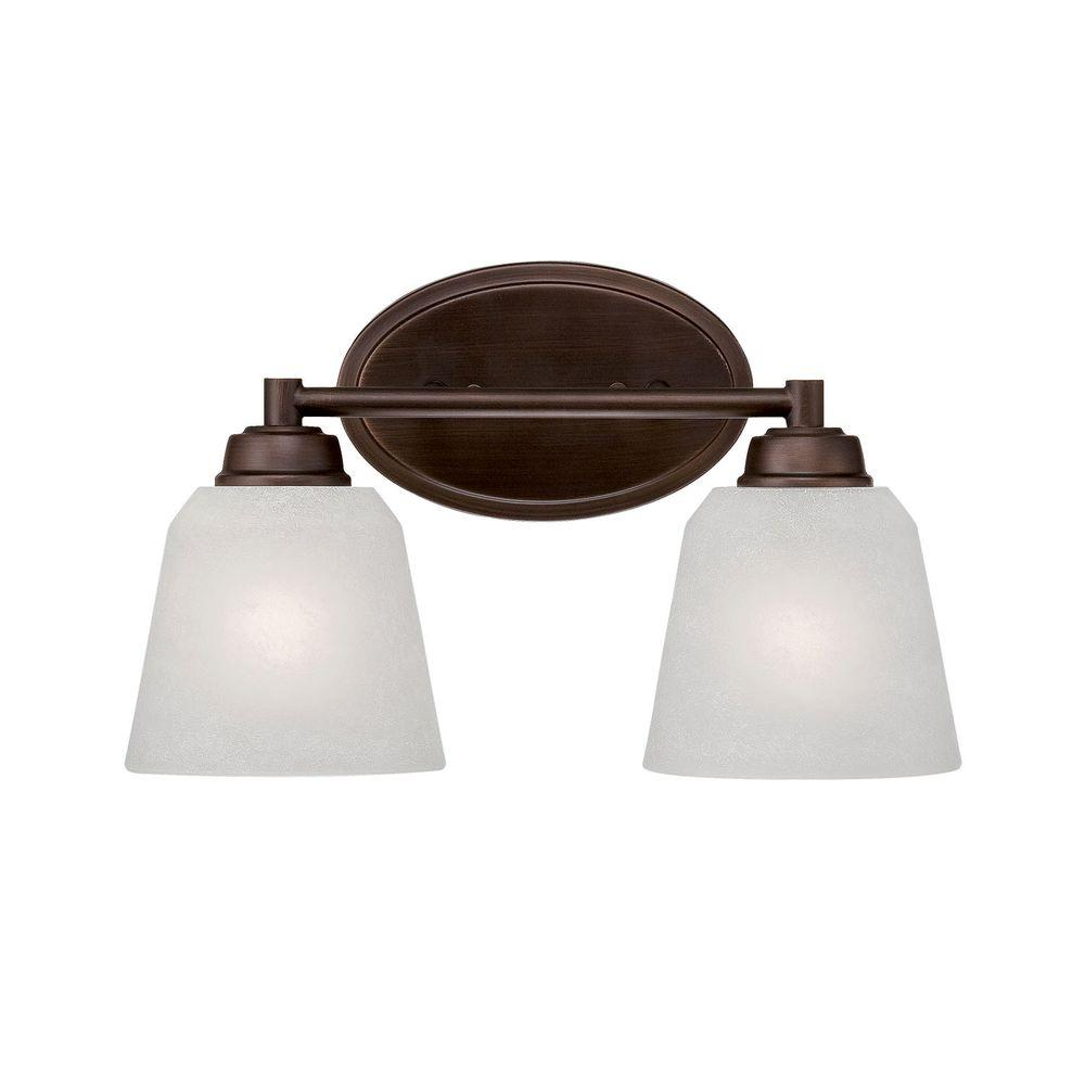 millennium lighting 2 light rubbed bronze vanity light with india rh homedepot com Bronze Bathroom Vanity Light Fixtures Antique Bronze Bathroom Light Fixtures