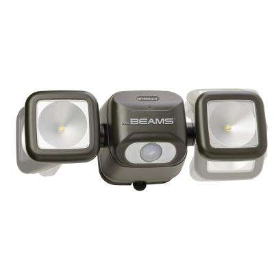 NetBright 140° Bronze Motion Activated Outdoor Integrated LED Security Flood Light