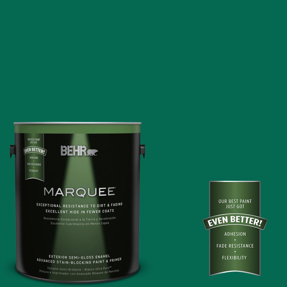 1-gal. #480B-7 Clover Brook Semi-Gloss Enamel Exterior Paint