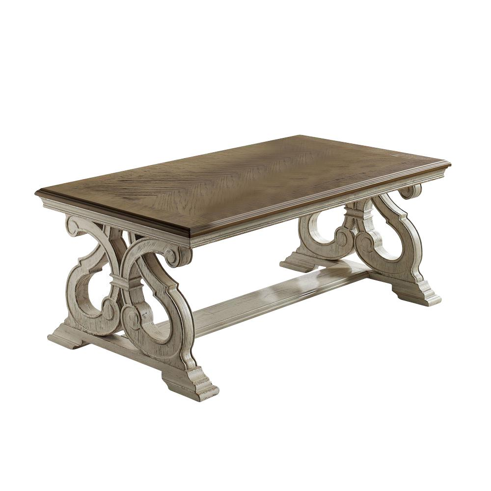 Myrtle Dark Oak and White Wash Coffee Table