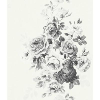 56 sq.ft. Tea Rose Wallpaper