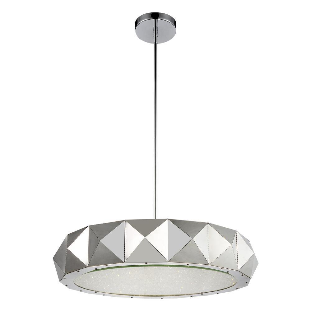 Rigelle 12-light chrome chandelier