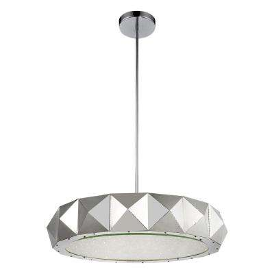 Rigelle 12-light chrome chandelier