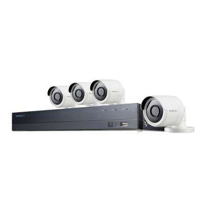 8-Channel 4M 1TB DVR Surveillance System with 4-Wired Bullet Cameras