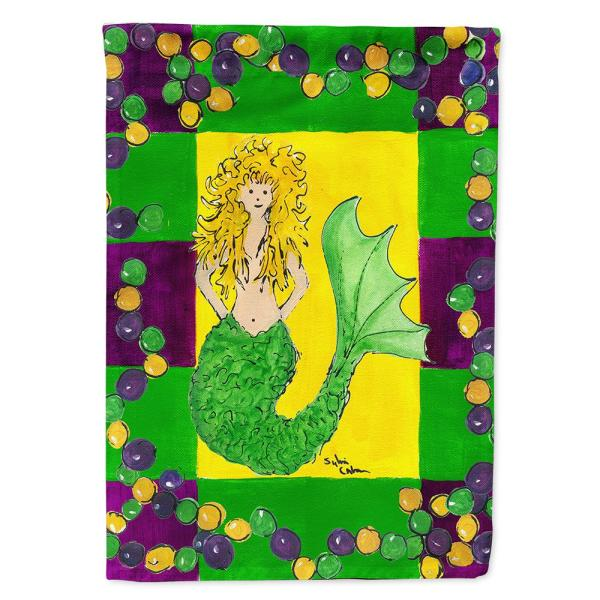 Caroline S Treasures 28 In X 40 In Polyester Mardi Gras Mermaid Flag Canvas House Size 2 Sided Heavyweight 8036chf The Home Depot