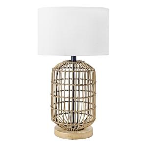 Gretna 25 in. Brass Coastal Table Lamp with Shade