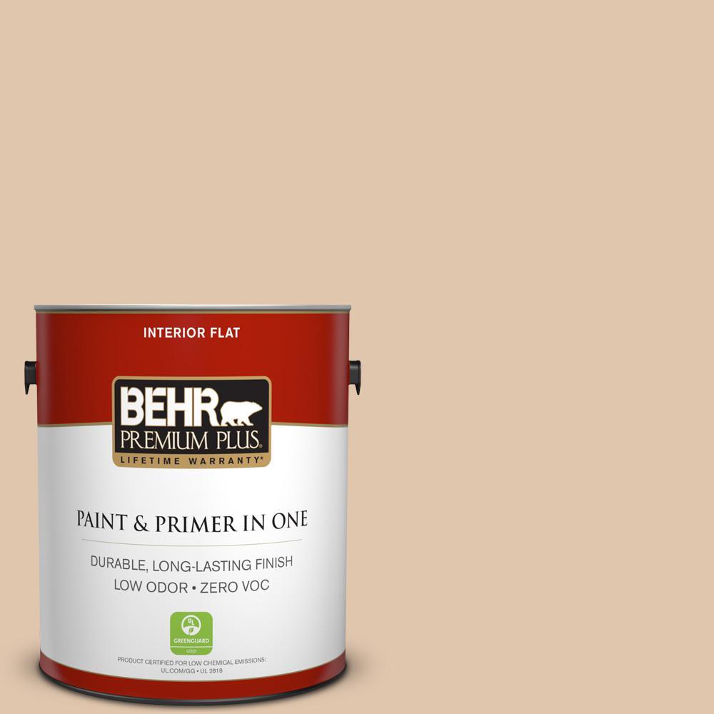 BEHR Premium Plus 1-gal. #S260-2 Pumpkin Seed Flat Interior Paint