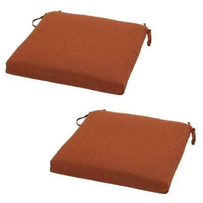 Sunbrellla Canvas Paprika Outdoor Seat Cushion (2-Pack)