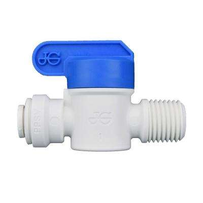 1/4 in. O.D. x 1/4 in. NPTF Polypropylene Push-to-Connect Male Valve