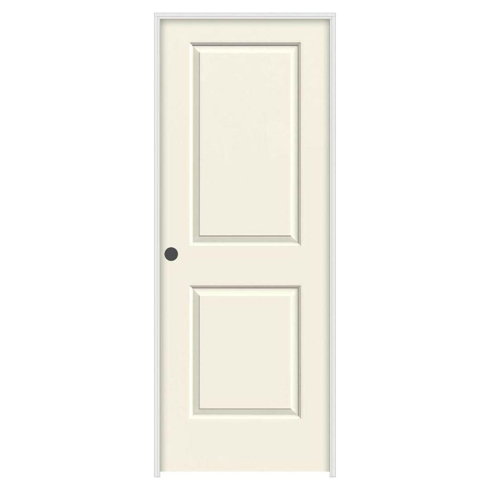 28 in. x 80 in. Cambridge Vanilla Painted Right-Hand Smooth Solid