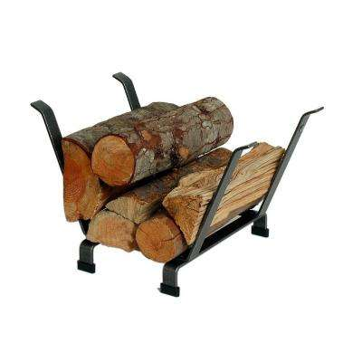1.66 ft. Handcrafted Basket Firewood Rack Hammered Steel