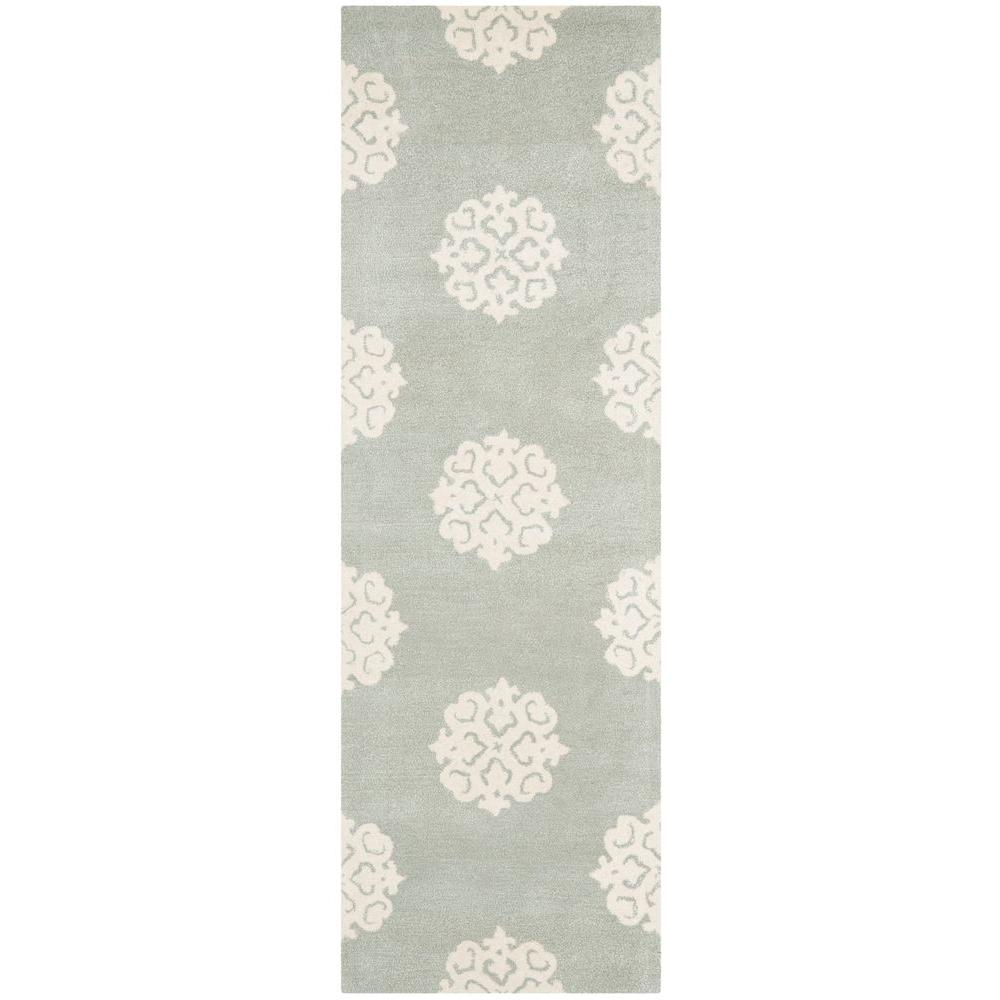 Safavieh Soho Grey Ivory 3 Ft X 14 Runner Rug